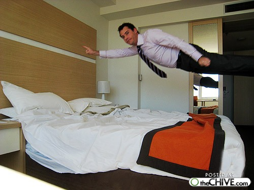 bed jumping fun 15 The art of hotel bed jumping (20 Photos)