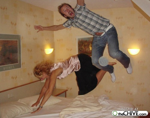 bed jumping fun 3 The art of hotel bed jumping (20 Photos)