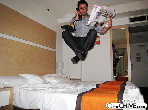 best bed lead The art of hotel bed jumping (20 Photos)