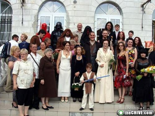 star wars lead 121 This Star Wars wedding is perfectly normal, not weird at all (22 Photos)