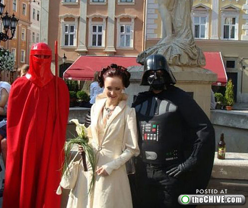 star wars wedding lead1 This Star Wars wedding is perfectly normal, not weird at all (22 Photos)