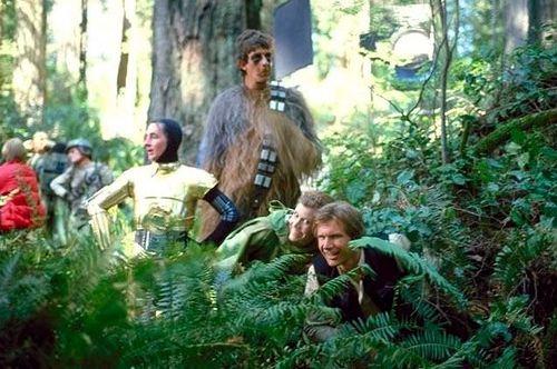 a behind scenes star wars 4 Rare behind the scenes Star Wars pics (31 photos)