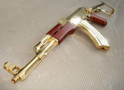 gold guns 500 0 Saddam Hussein's Gold Gun collection