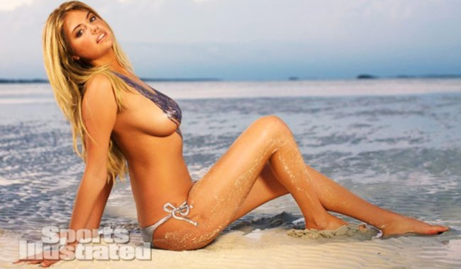kate lead Kate Upton in body paint and little else (Video)