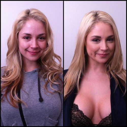 porn stars with makeup without 0 Porn stars with and without makeup makes a slight difference (69 Photos)