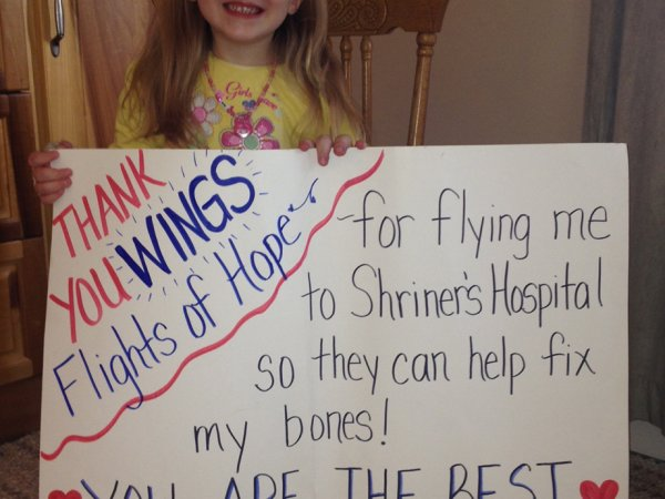 Chive Charities Wings of Hope thank you