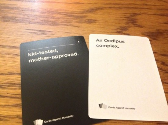 Awesome Cards against Humanity answers Oedipal complex
