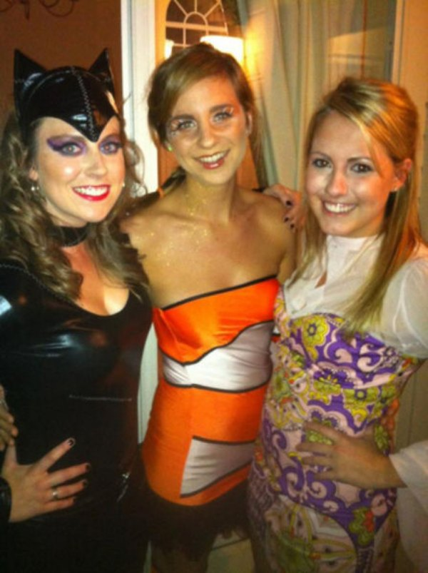 Girls in sexy costumes