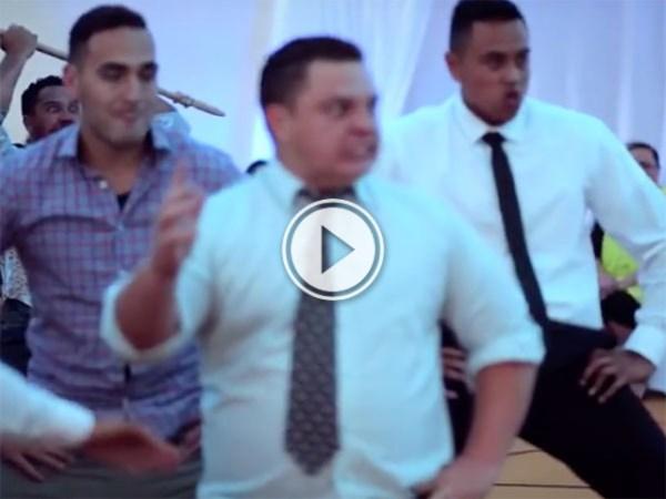 Amazing HAKA performed at wedding (Video)
