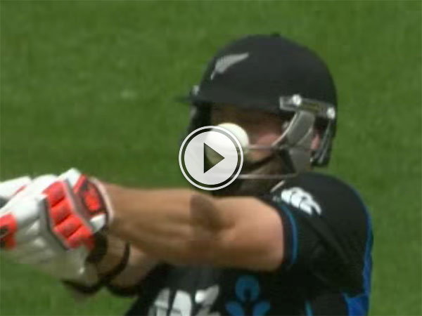 Cricket player takes bouncer through his protective mask (Video)
