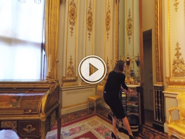 Google offers 360 tours of Buckingham Palace so you can be guided around the Queen's official residence from the comfort of your own home
