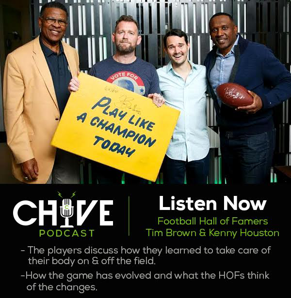 a302d0b6 f5d3 4ff5 85f8 05ced6b8d3741 NFL Hall of Famers impart words of wisdom about football, longevity, and life, on theCHIVE Podcast