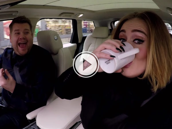 James Corden and Adele driving around London singing is awesome.