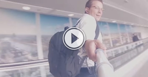 Traveling on Heelys tom ake your way through an airport in 1 minute is a total LifeHack