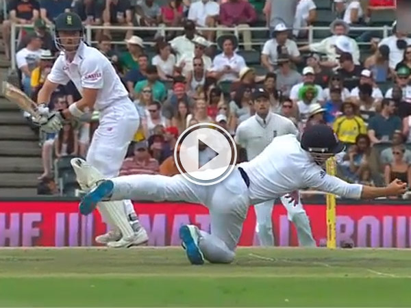 During South Africa vs England James Taylor takes stunning short-leg catches.