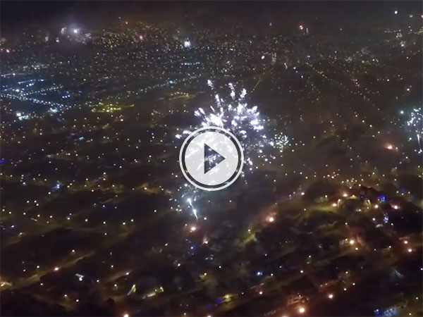 Drone films fireworks over Lima, Peru (Video)