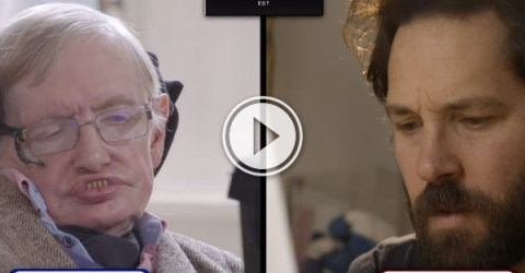 My brain hurts after watching this. Keanu Reeves narrates Paul Rudd vs Stephen Hawking in a game of Quantum Chess,