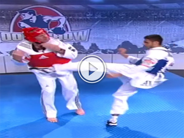 Footy commentator gets his ass kicked by Taekwondo fighter (Video)