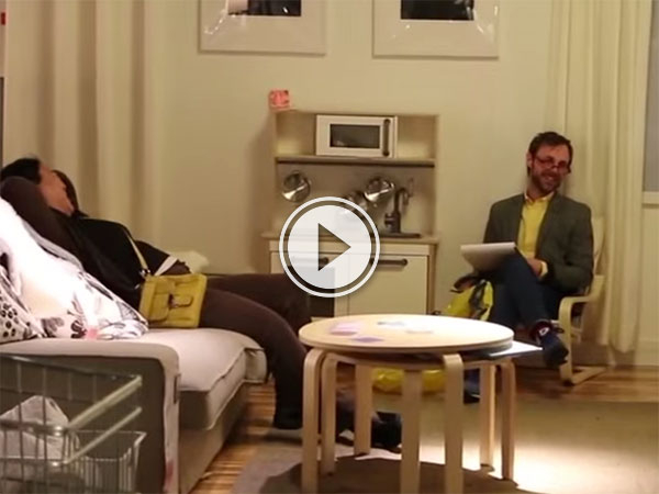 Comedian pretends to be IKEA therapist (Video)
