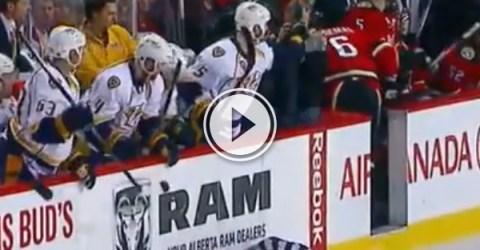 Dennis Wideman cross checks referee (Video)