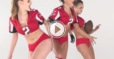 THE Gridiron is a lot hotter when it's slowed down. These girls demonstrate all the right moves ahead of the Super Bowl.