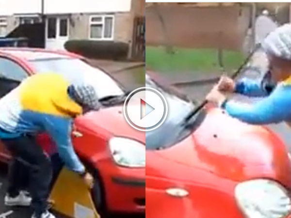 Guy gets clamped by the DVLA and losses it.