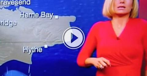 Rachel Mackley faints on Live TV