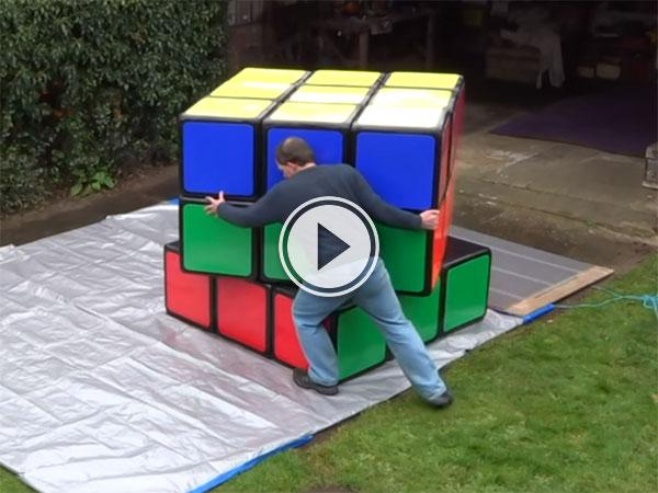 World's Largest Rubik's Cube (Video)