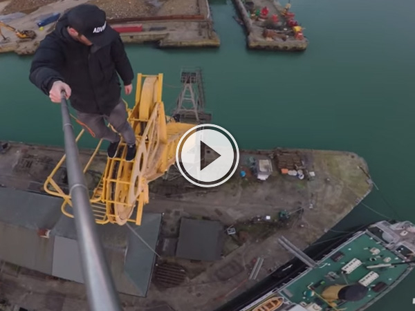 James Kingston: POV Adventures, climbs an old crane.
