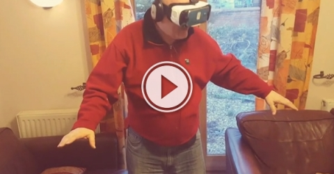 play this video of a British dad trying out VR for the first time.