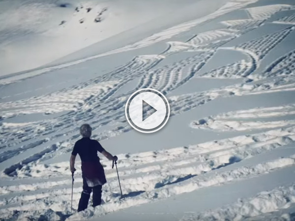 Watch amazing snow artist Simon Beck create something truly magical