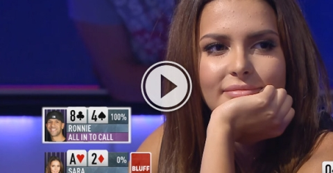 in Poker it's sometimes better to be lucky than good.