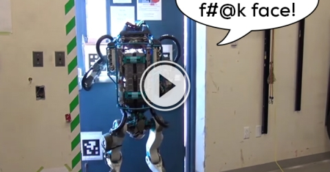 Someone put a voice over on the Boston Dynamics robot video (Video)