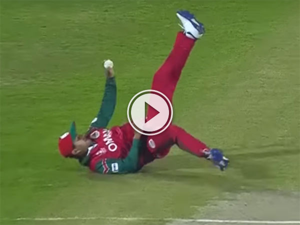 Oman player makes spectacular catch against Ireland (Video)