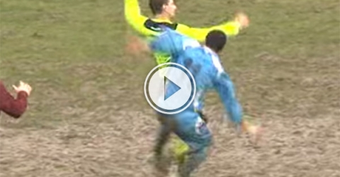 Player fails to attack referee (Video)