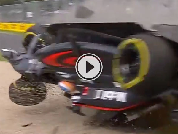 F1 driver walks away from this incredible crash (Video)