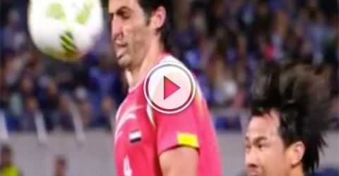 Own goal off defenders face (Video)