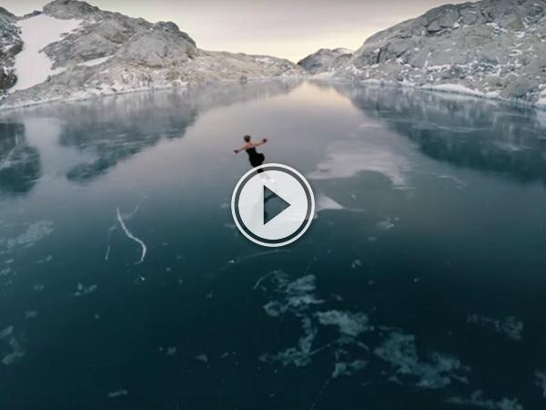 Figure skating in the frozen wilderness (Video)