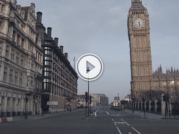Film on the streets of London in 2010 with the help of Photoshop and a very early morning.