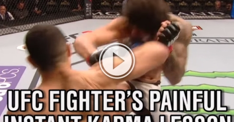 Erick Silva found out what happens when you try to pull off a cheap shot against Nordine Taleb.