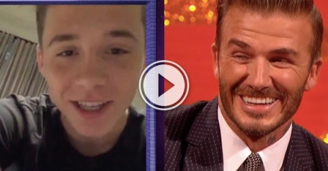 Brooklyn's dad is David Beckham. David Beckaham is one of the coolest men on earth. unlucky Brooklyn.