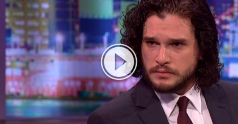 Actor Kit Harington is probed for Game of Thrones spoilers by Jonathan Ross and his 'Stone of Truth'.