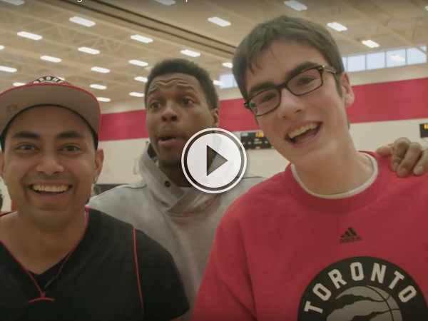 Watching Sam, Toronto's dancing barista meet the Raptors, brings the feels! (Video)