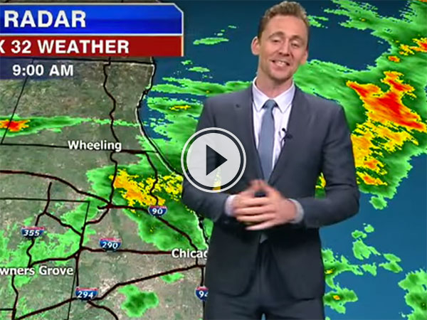 Tom Hiddleston with the weather (Video)