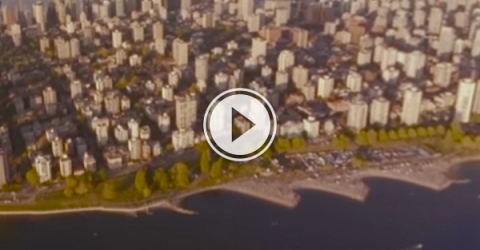 Enjoy a nice downtown Vancouver sunset in 360!