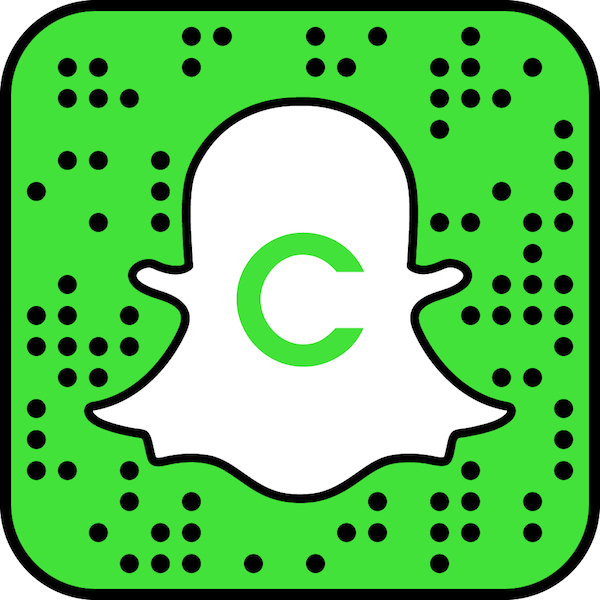 """Snapchat logo with letter """"C"""" and green background"""