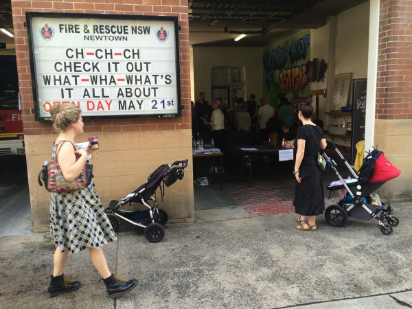 Message about checking the Open Day on the signboard of Newtown Fire and Rescue department!