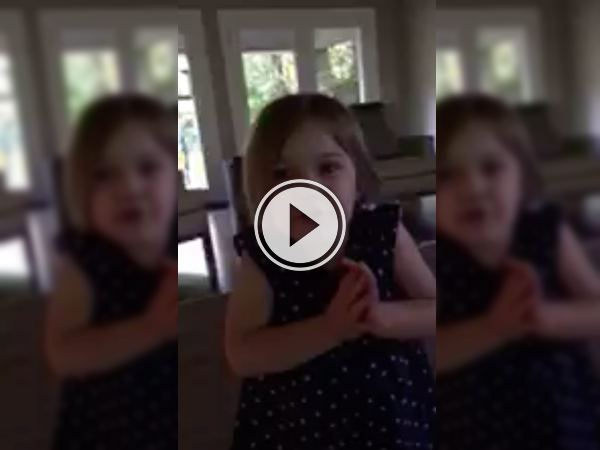 Cute tyke wants to know when daddy's coming home! (Video)
