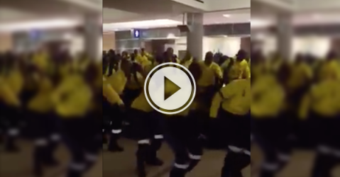 Nothing like a war dance to get these Firefighters pumped up in Fort Mac! (Video)