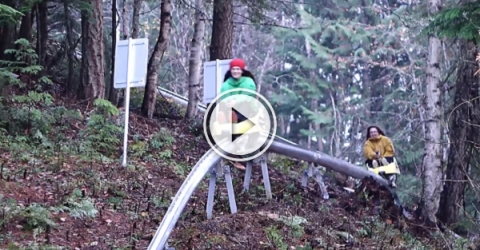 Wanna ride a coaster out of a mountain? (Video)